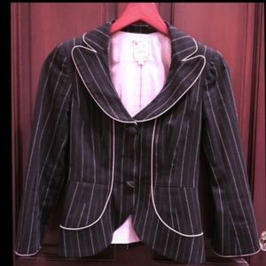 Nanette Lapore Fitted Pin-Striped Jacket -Sz 0